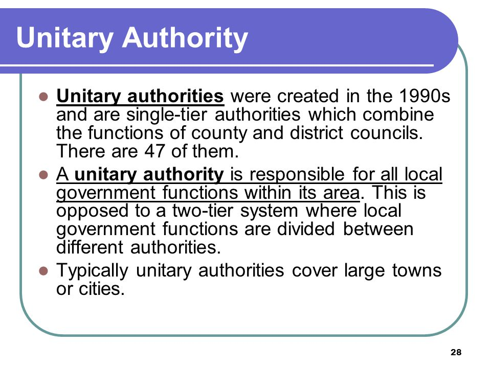 Unitary Authority