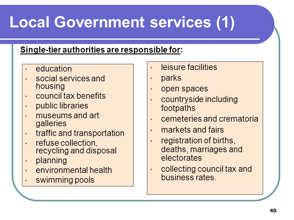 Local Government services (1)