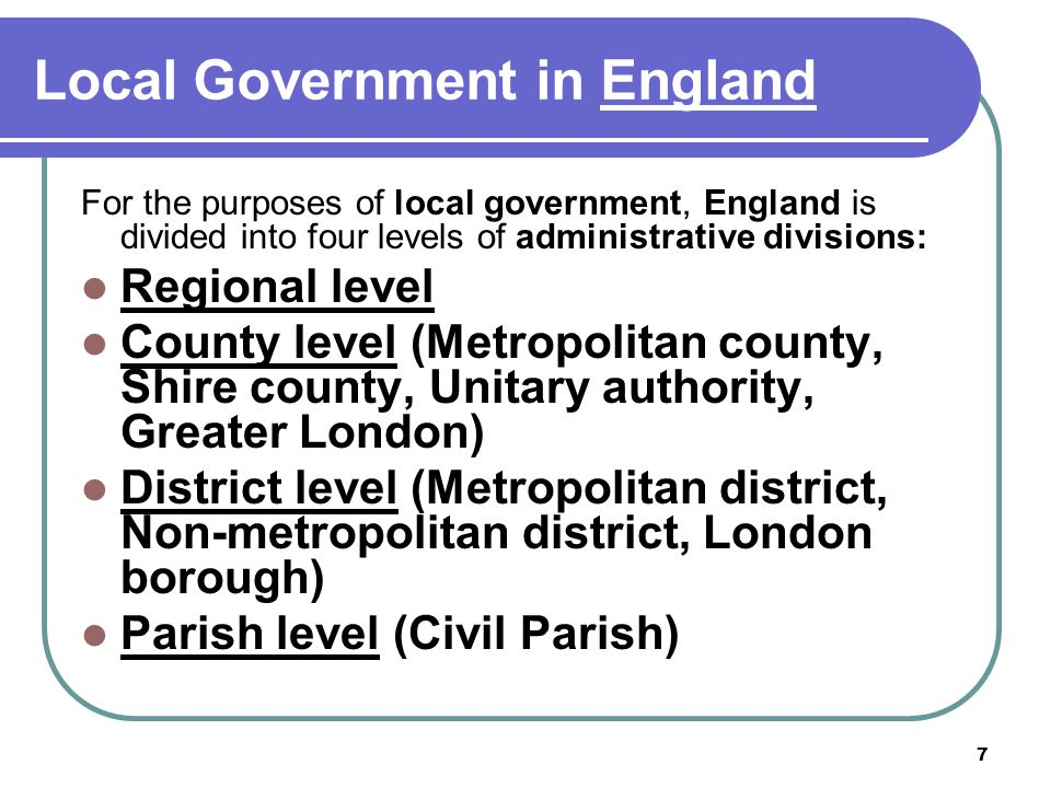 Local Government in England