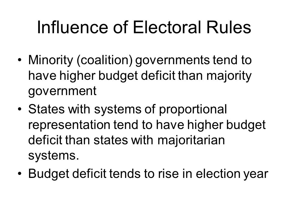 Influence of Electoral Rules