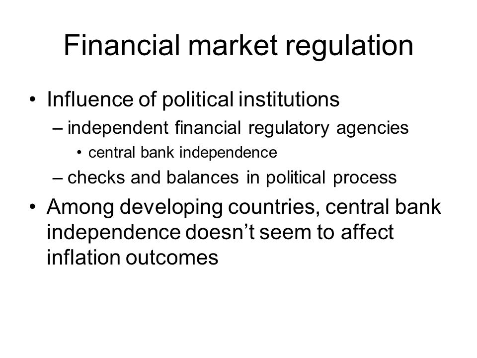 Financial market regulation