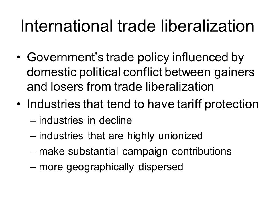 International trade liberalization