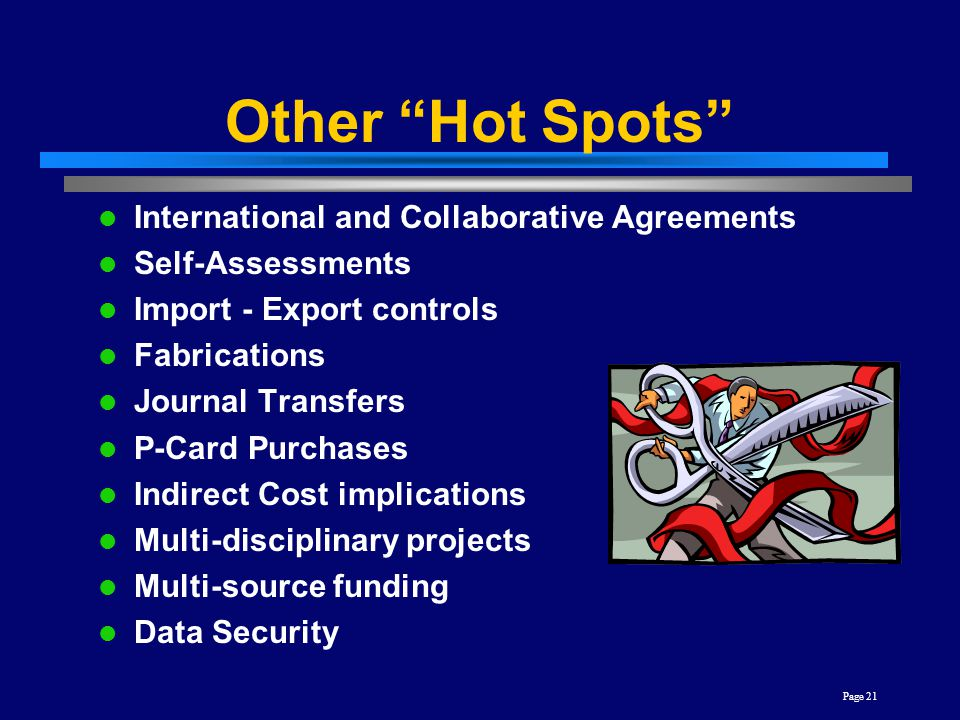 Other Hot Spots International and Collaborative Agreements