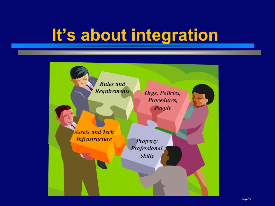It's about integration