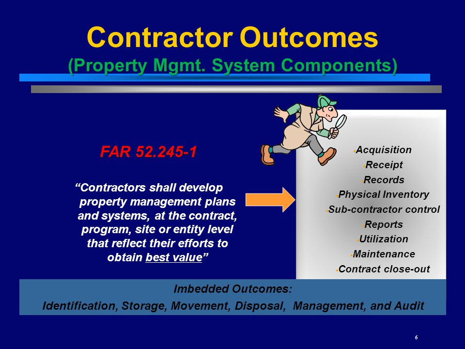 Contractor Outcomes (Property Mgmt. System Components)