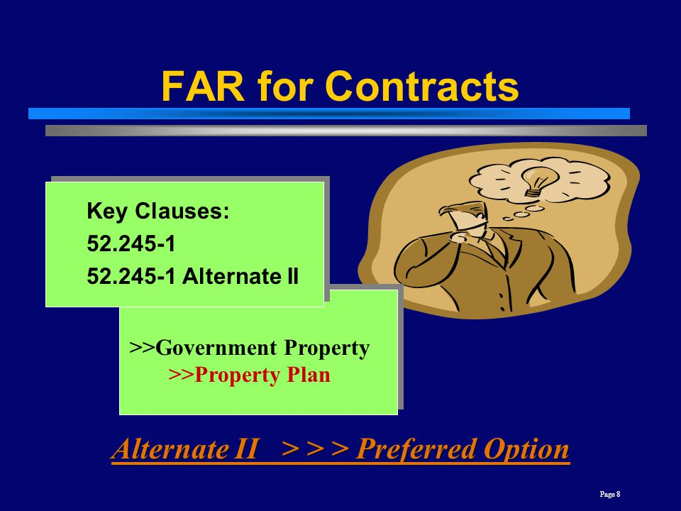 FAR for Contracts Alternate II > > > Preferred Option