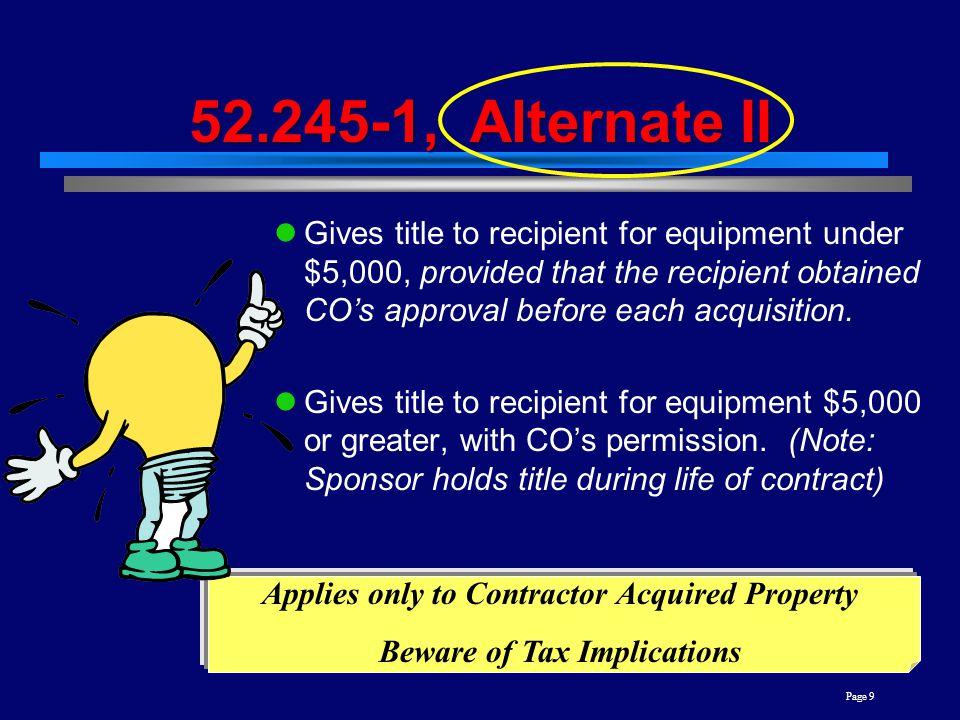 52.245-1, Alternate II
