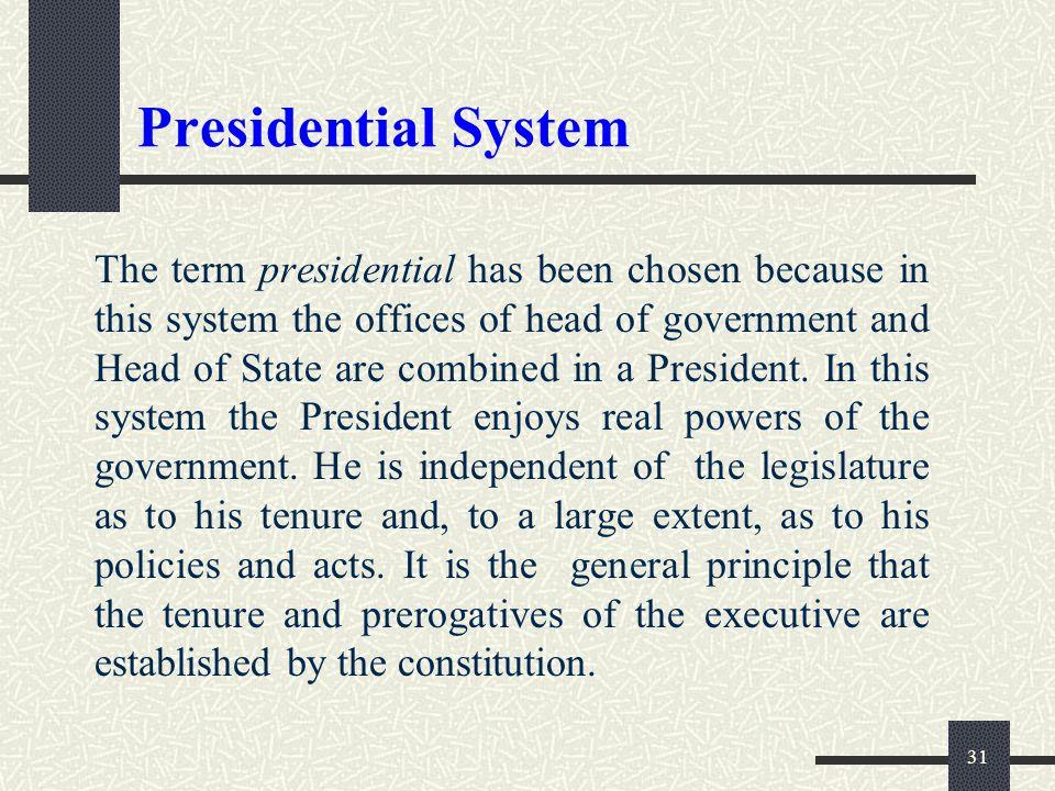 Presidential System