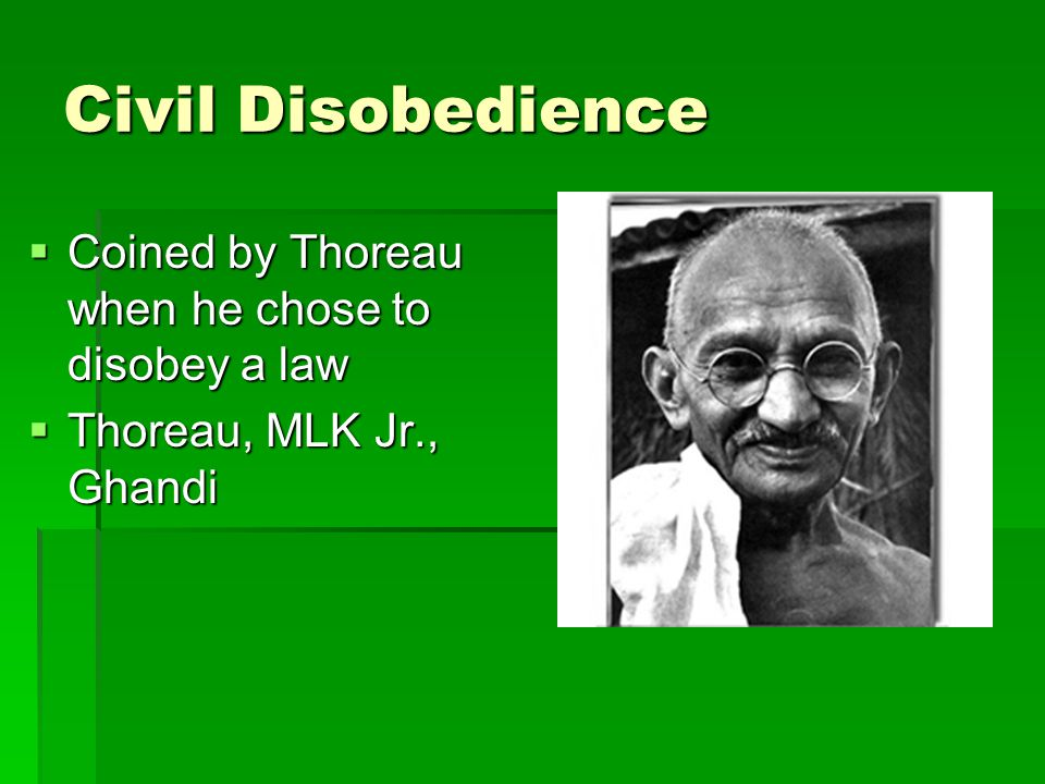 Civil Disobedience Section I Summary and Analysis