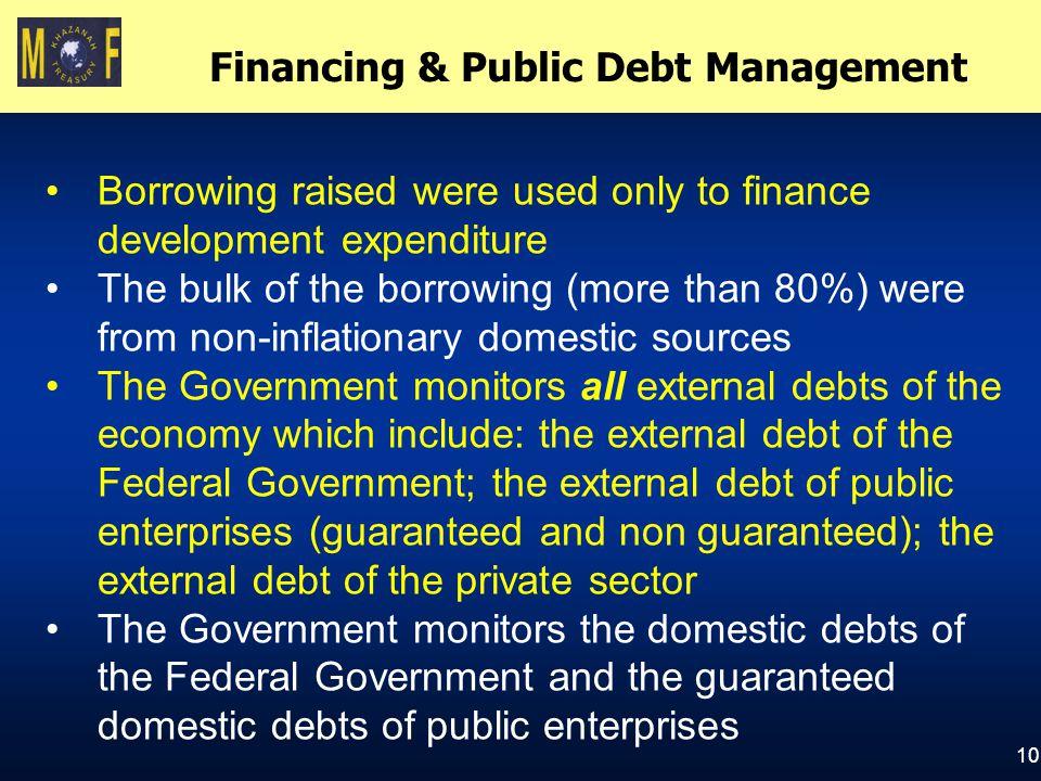 Financing & Public Debt Management