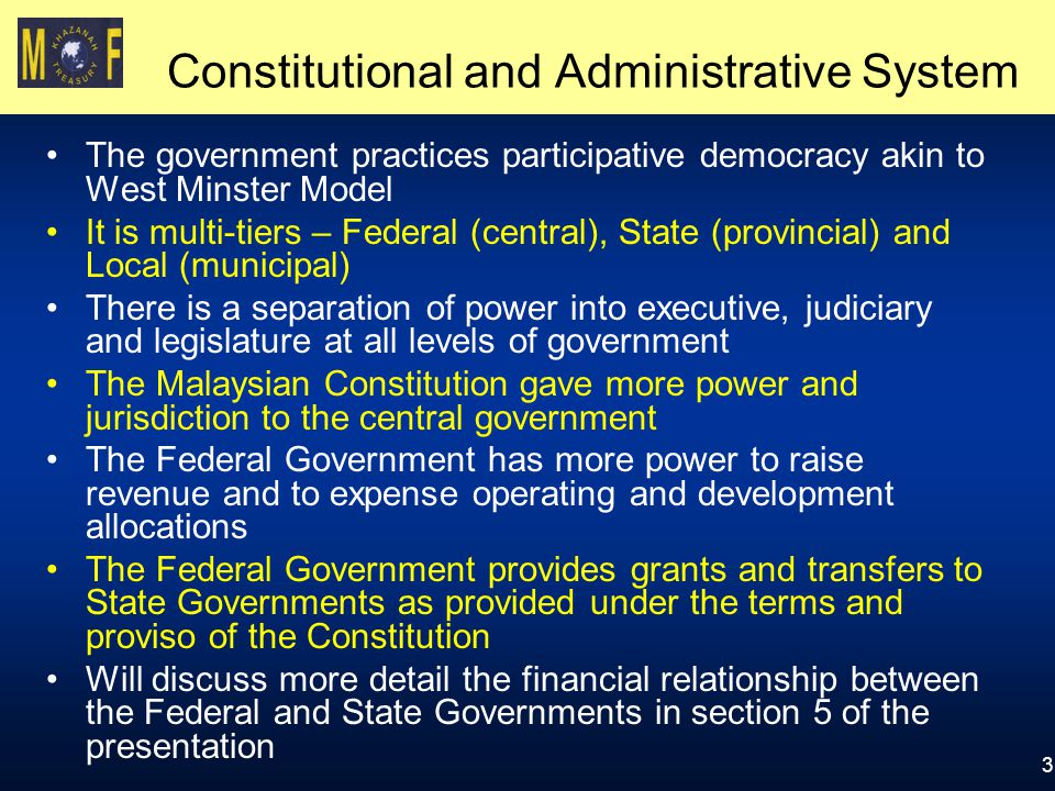 Constitutional and Administrative System