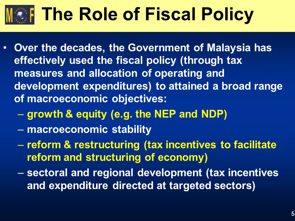 fiscal policy in malaysia Fiscal positions in many emerging market and developing economies have weakened considerably since the global financial crisis this will constrain the room for policy makers in these economies to utilize fiscal policy when the next shock hits.