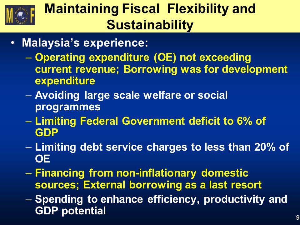 Maintaining Fiscal Flexibility and Sustainability