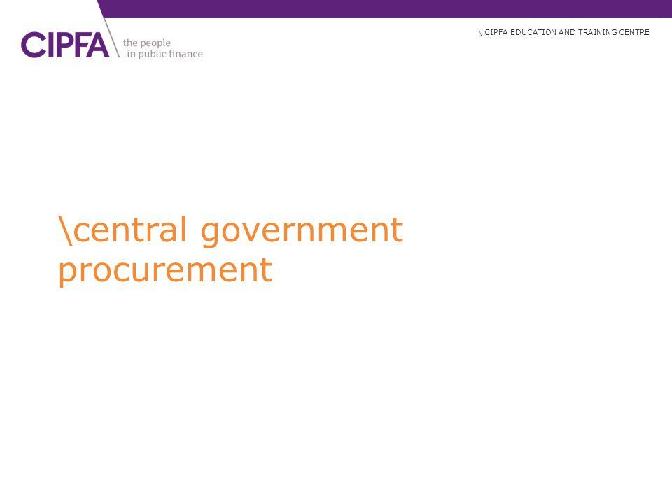 \central government procurement