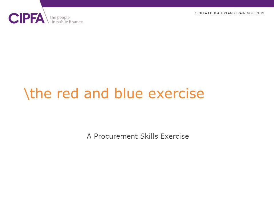 \the red and blue exercise