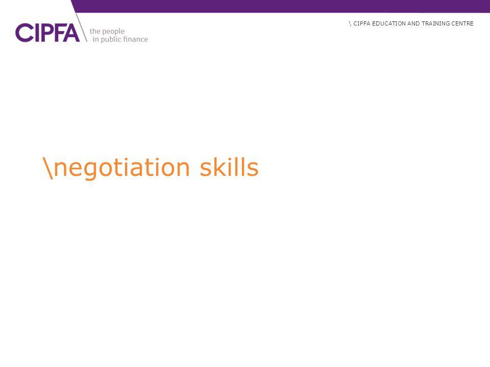 \negotiation skills
