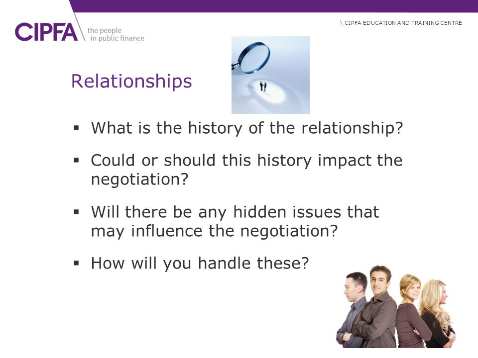 Relationships What is the history of the relationship
