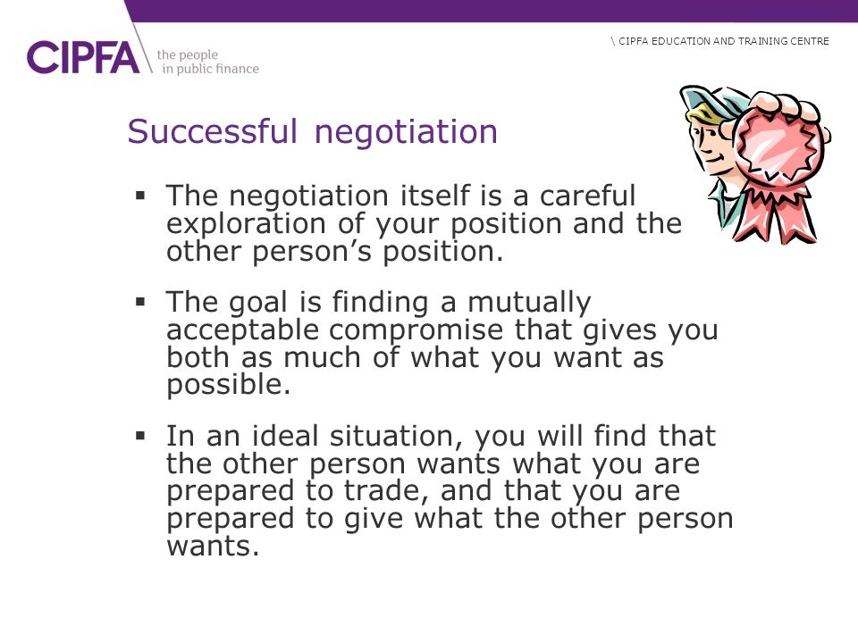 Successful negotiation