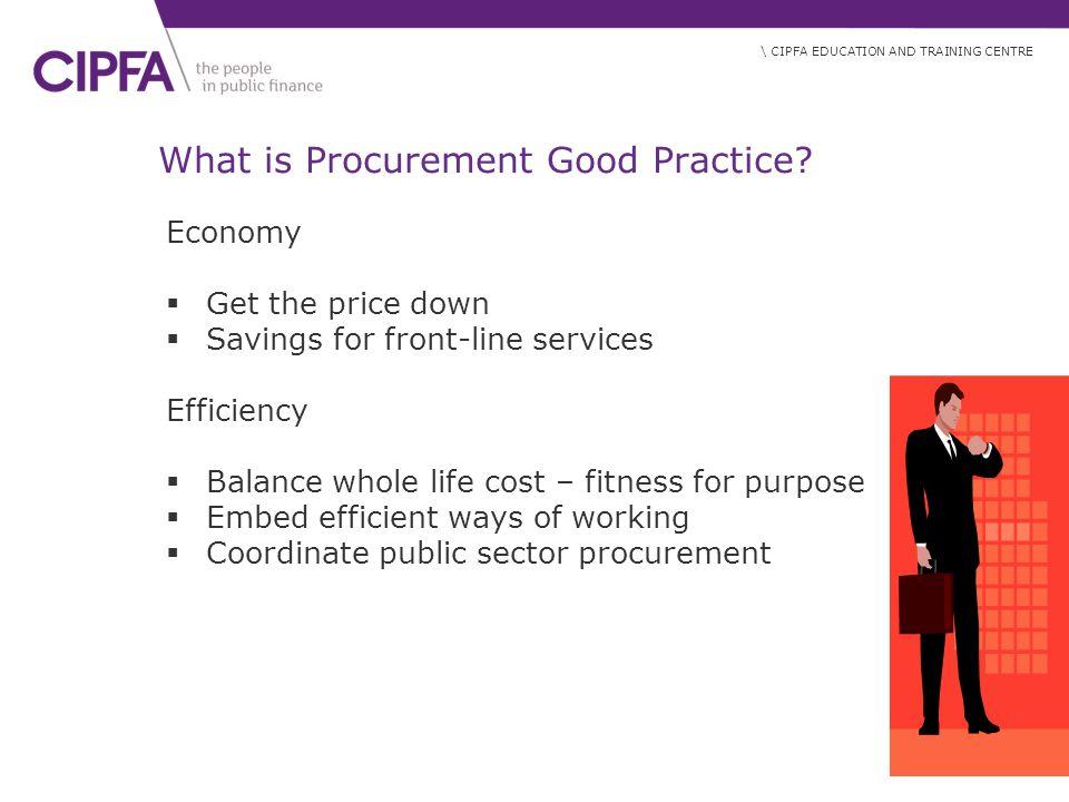 What is Procurement Good Practice