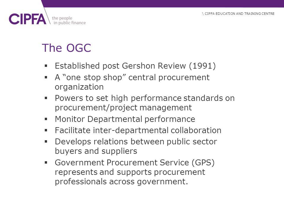 The OGC Established post Gershon Review (1991)