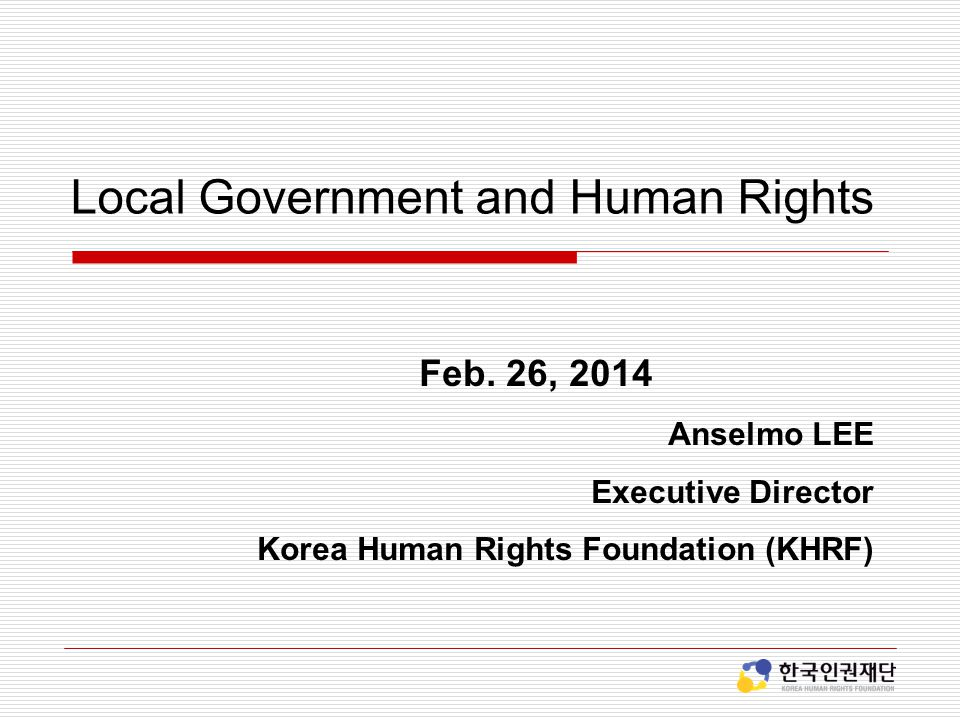 Local Government and Human Rights