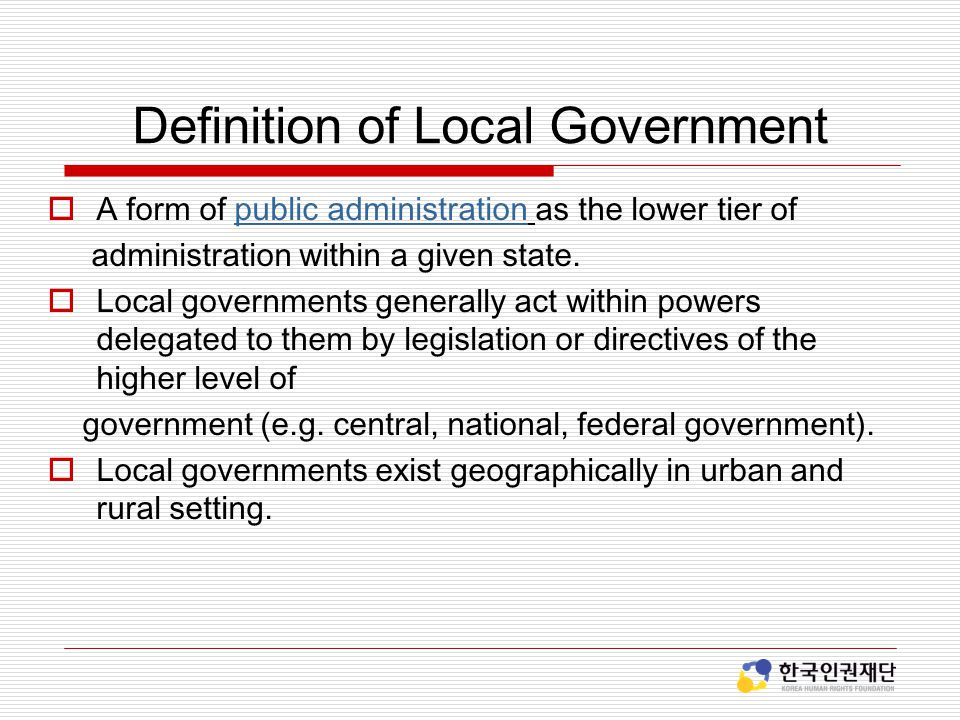 Definition of Local Government