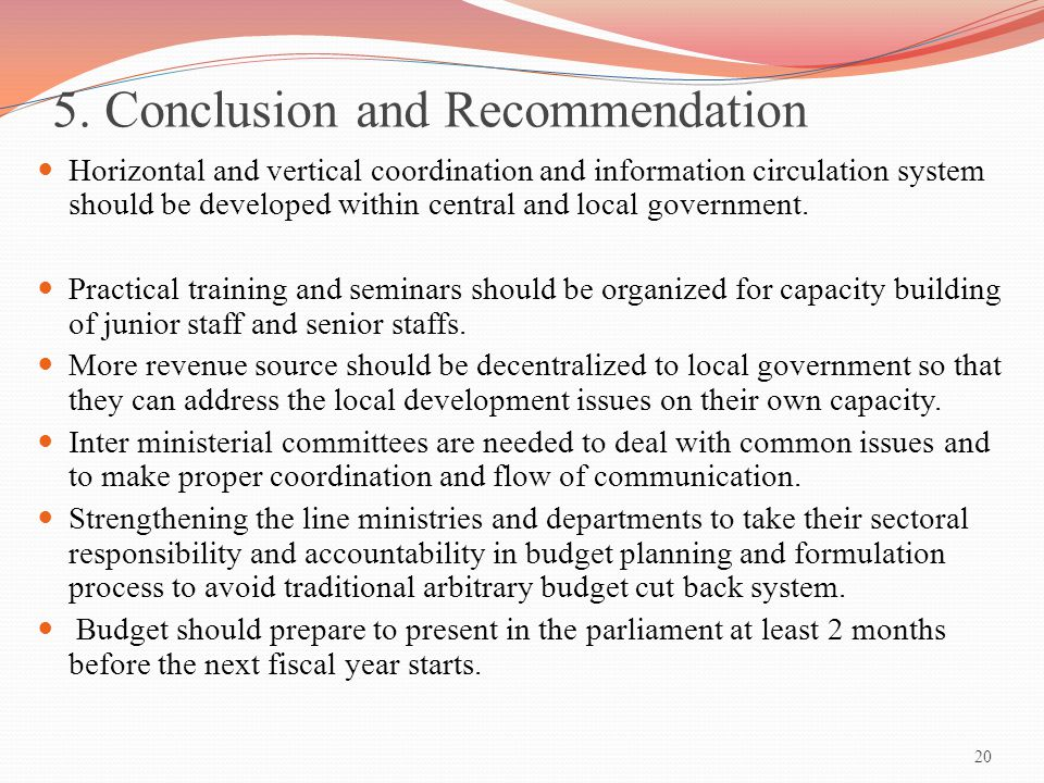 5. Conclusion and Recommendation