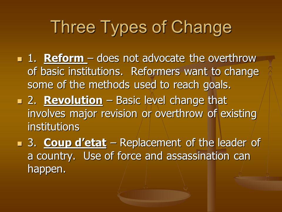 Three Types of Change