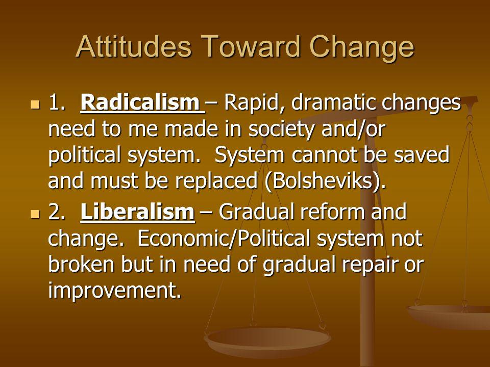 Attitudes Toward Change