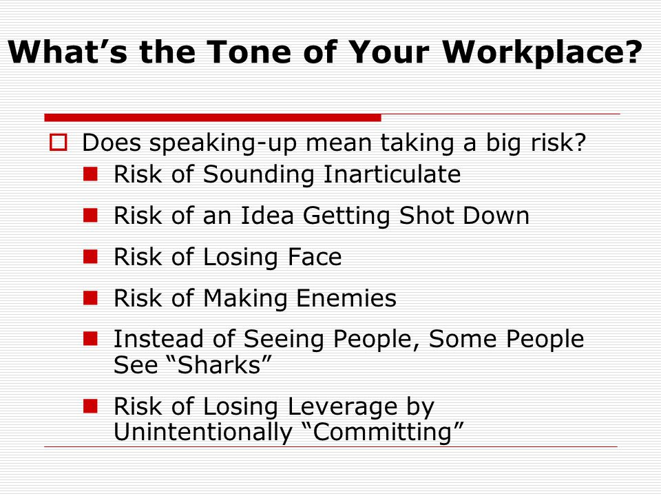 What's the Tone of Your Workplace