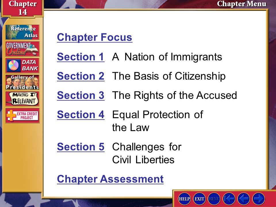 Section 1 A Nation of Immigrants Section 2 The Basis of Citizenship