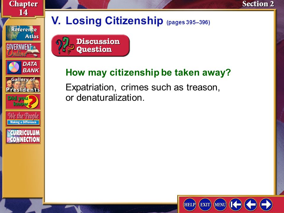 V. Losing Citizenship (pages 395–396)