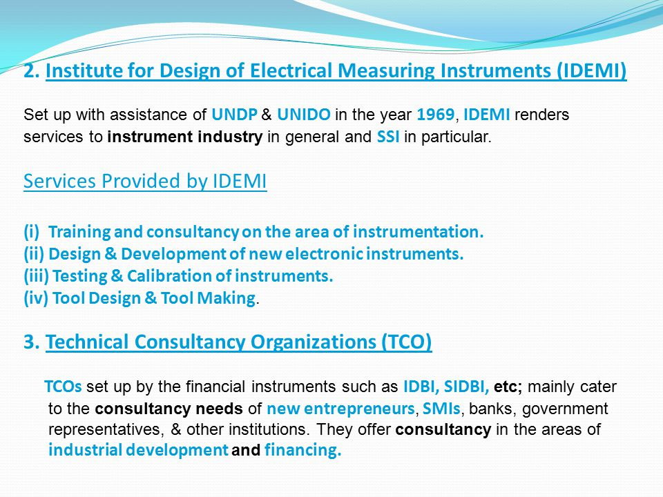 2. Institute for Design of Electrical Measuring Instruments (IDEMI)