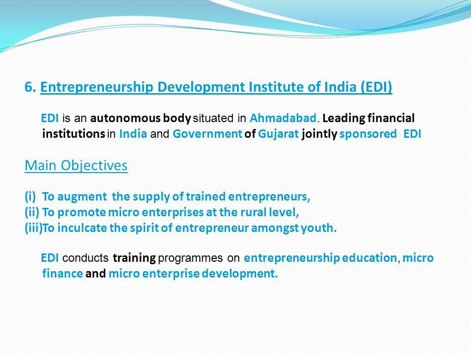 6. Entrepreneurship Development Institute of India (EDI)