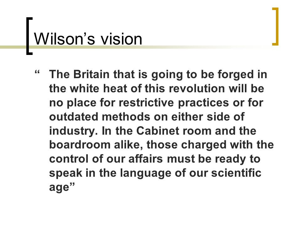 Wilson's vision