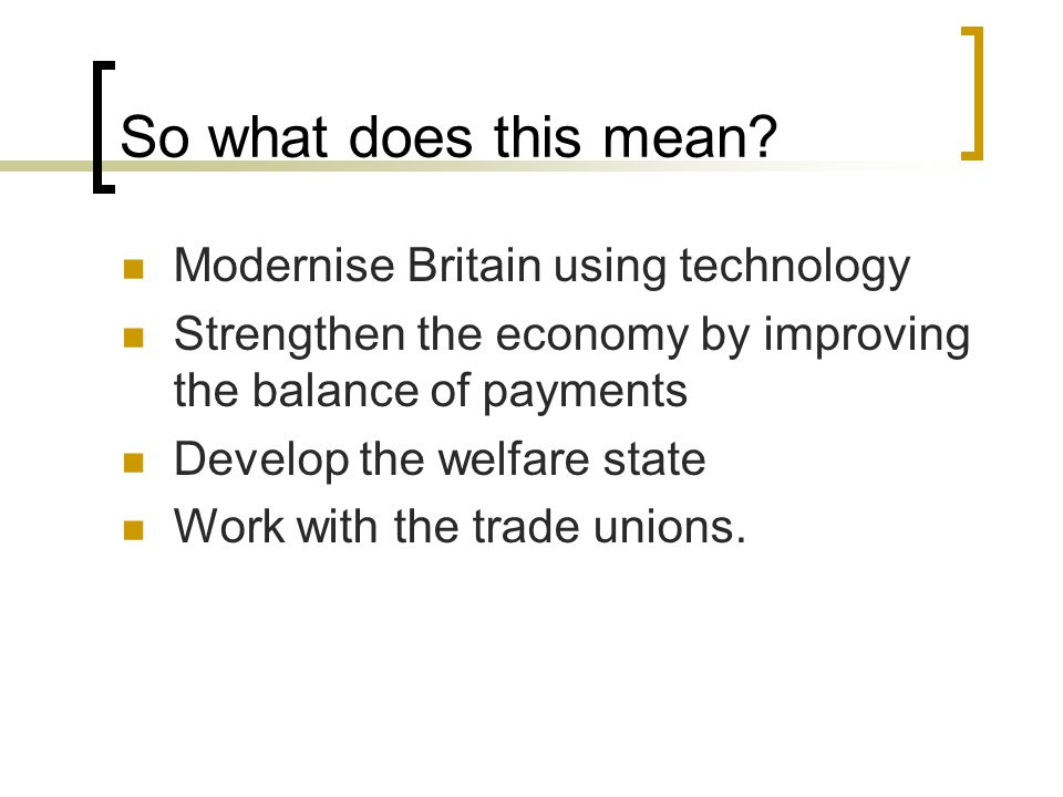 So what does this mean Modernise Britain using technology