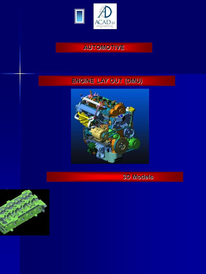 AUTOMOTIVE ENGINE LAY OUT (DMU) 3D Models