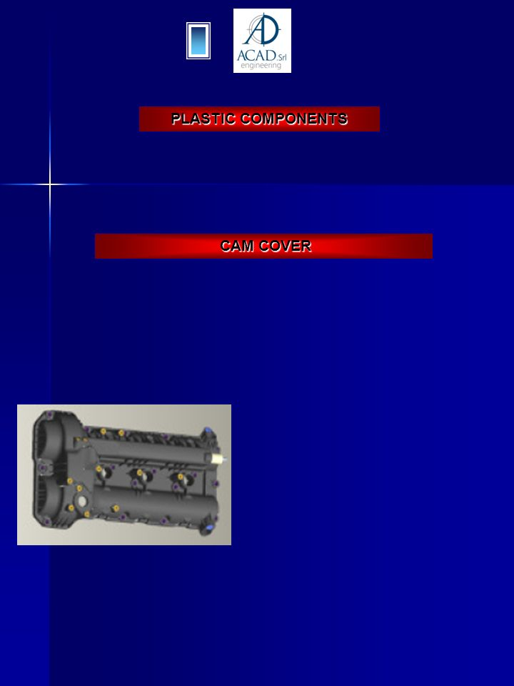 PLASTIC COMPONENTS CAM COVER