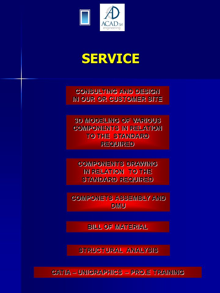 SERVICE CONSULTING AND DESIGN IN OUR OR CUSTOMER SITE