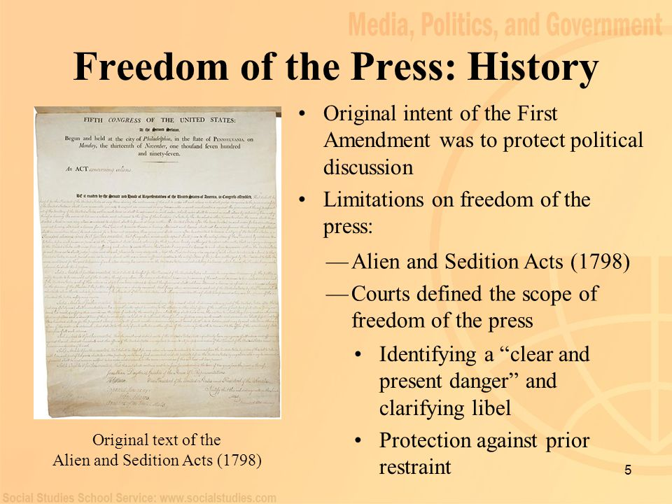 Freedom of the Press: History