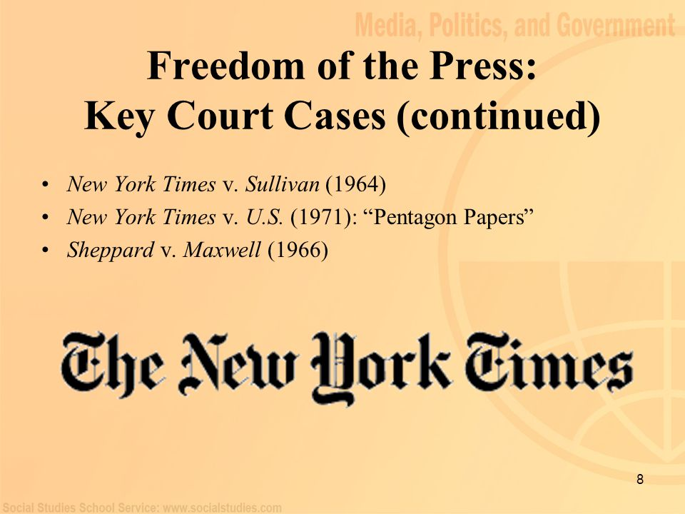 an analysis of the freedom of the press in the united states Society analysis podcast:  there have been few serious calls in the united states for official  in the united states, press freedom would become an almost.
