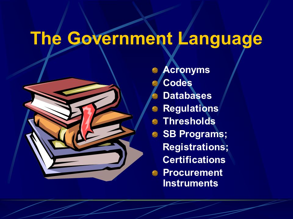 The Government Language