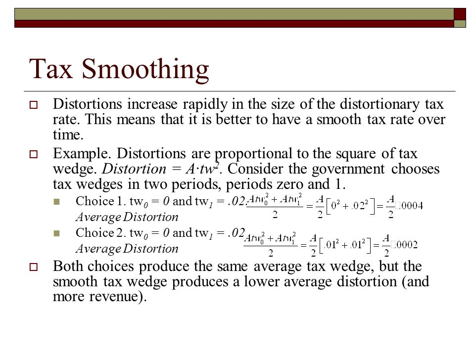Tax Smoothing