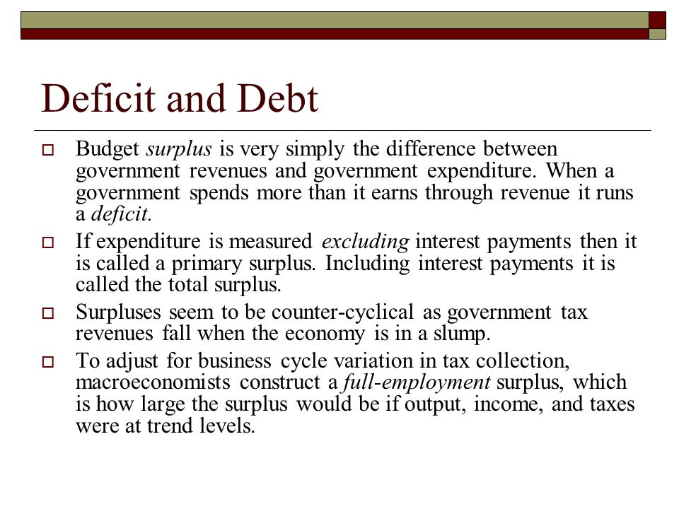 Deficit and Debt