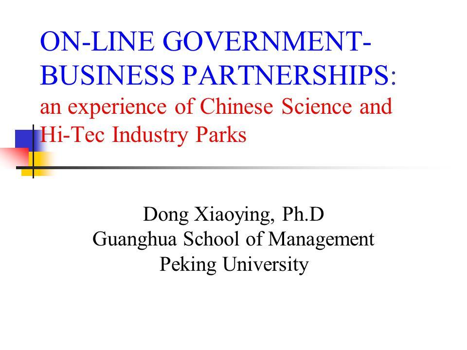 Dong Xiaoying, Ph.D Guanghua School of Management Peking University