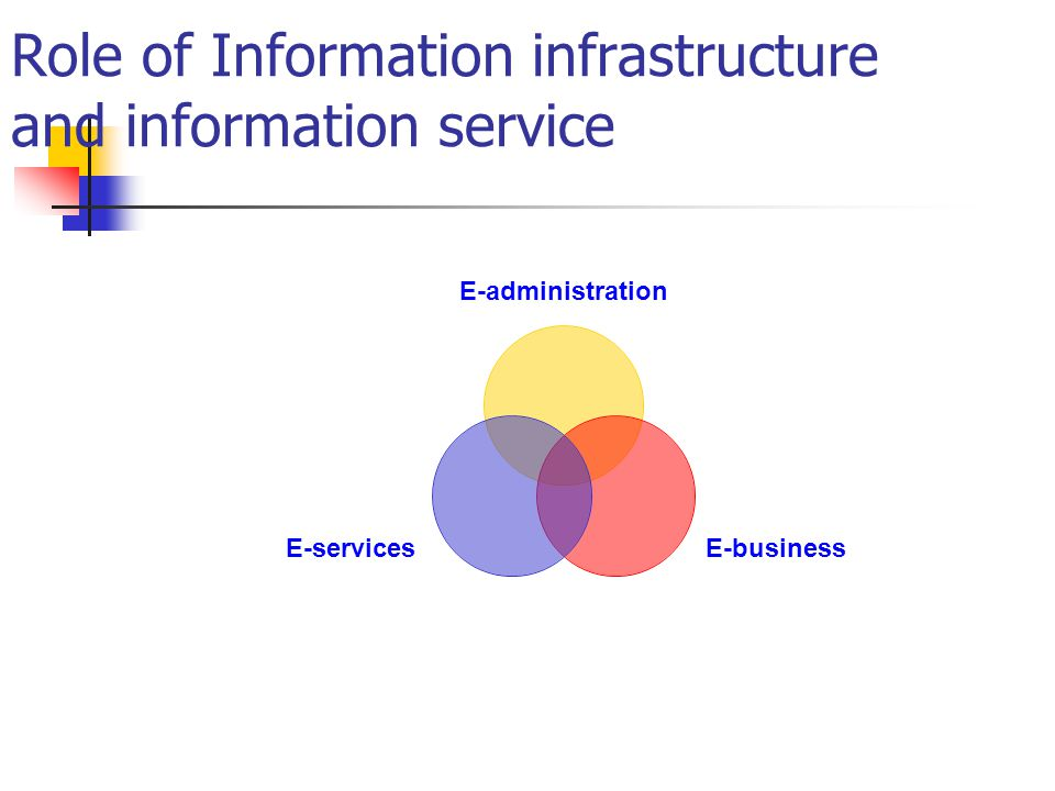 Role of Information infrastructure and information service