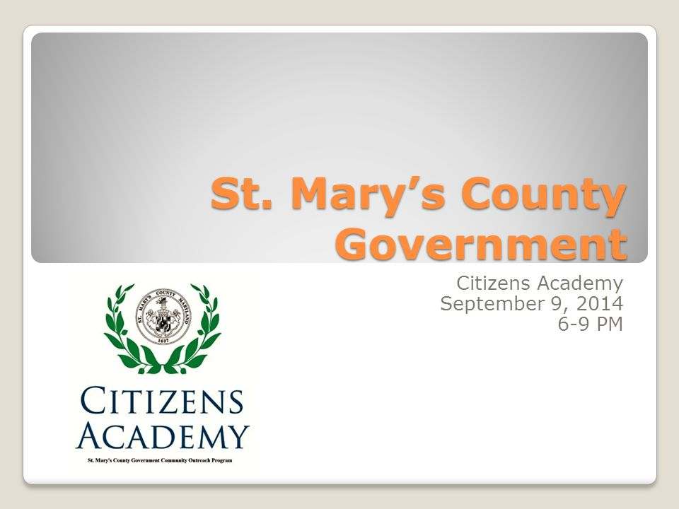 St. Mary's County Government