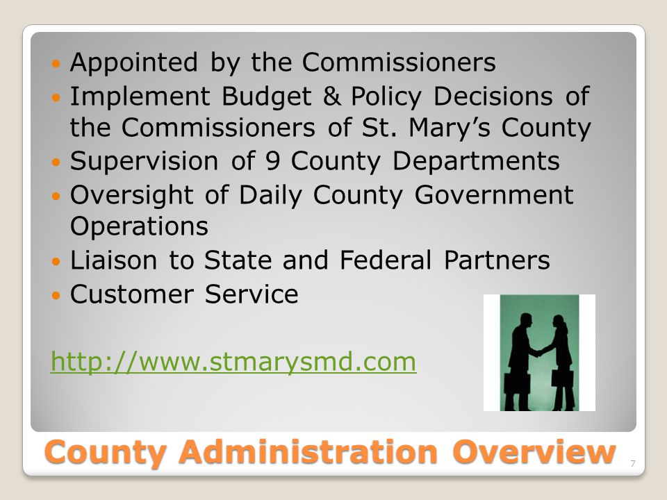 County Administration Overview