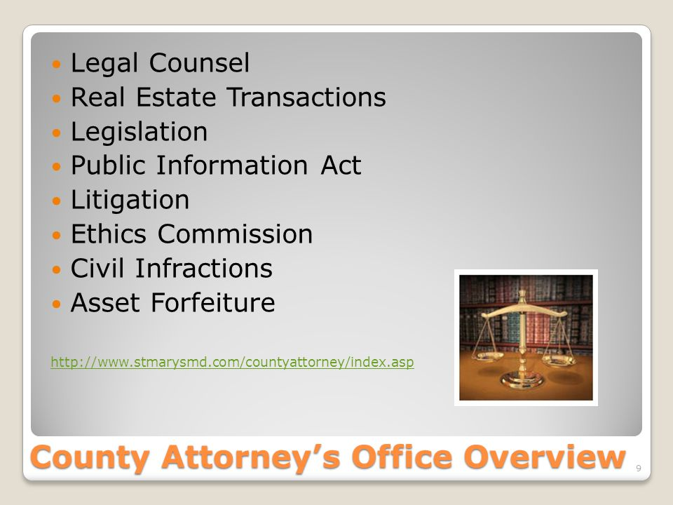 County Attorney's Office Overview