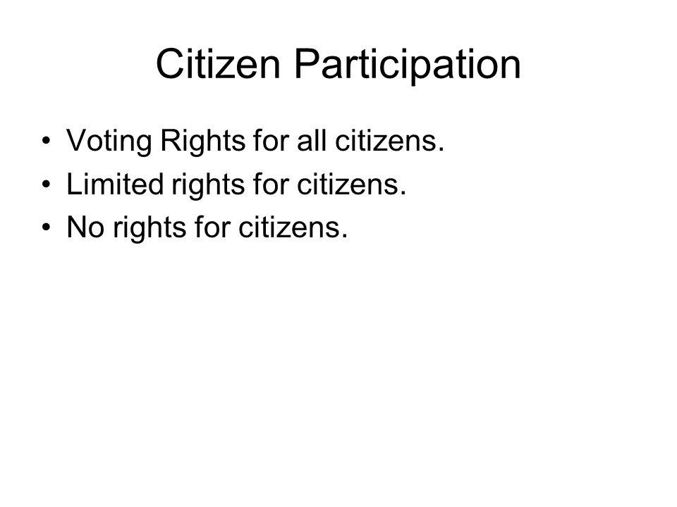Citizen Participation